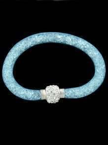 Pale Blue With Diamond Bracelet