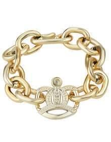 Gold With Diamond Chain Bracelet