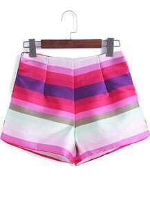 Multicolor Striped Loose Shorts