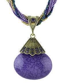 Purple Gemstone Pendant Necklace