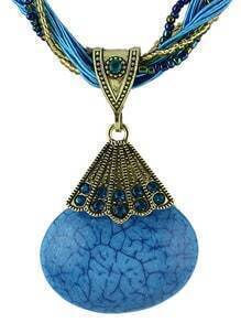 Blue Gemstone Pendant Necklace