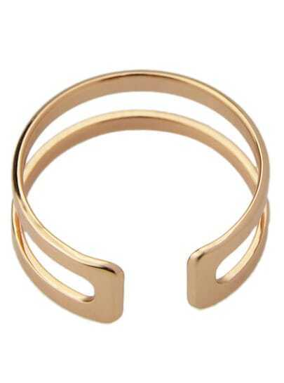 Gold Hollow Cuff Ring