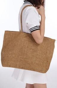 Coffee Vintage Zipper Tote Bag
