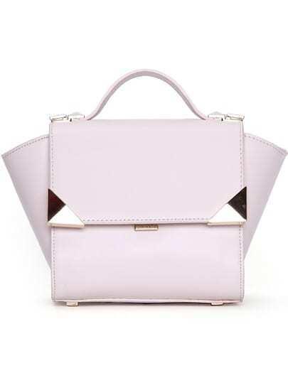 White Metal Embellished PU Bag