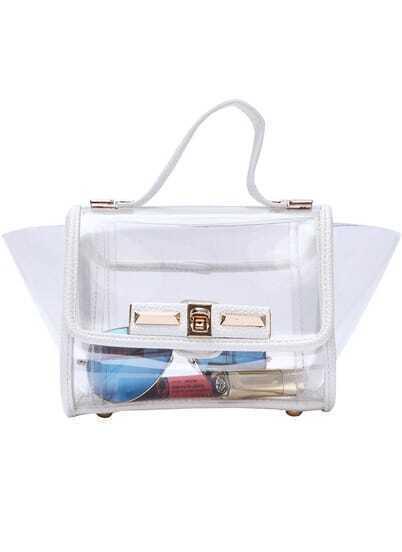 White Metal Buckle Sheer Bag