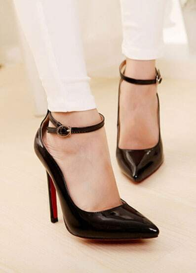 Black Asakuchi Slingbacks High Heeled Pumps