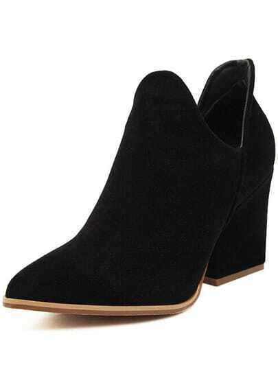 Black Point Toe High Heeled Boots