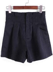 Black High Waist Loose Shorts