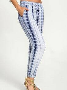 Blue Drawstring Waist Pant