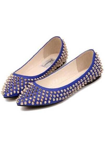 Blue Point Toe With Spike Flats