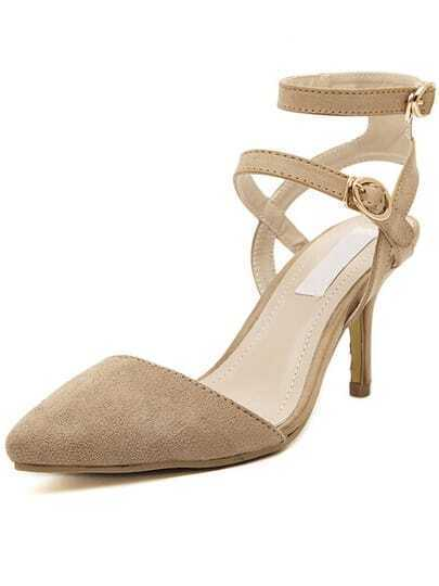 Apricot Point Toe Slingbacks High Heeled Sandals