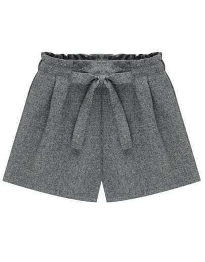 Pantaloncini con fiocco grigi