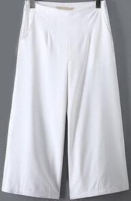 White Loose Wide Leg Pant