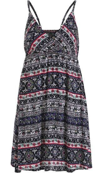 Black Spaghetti Strap Floral Slim Dress