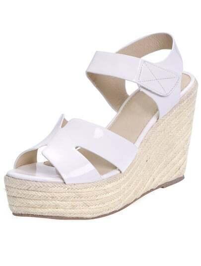 White Espadrille Wedges Sandals