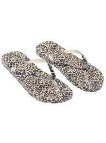 Apricot Leopard Flat Sandals