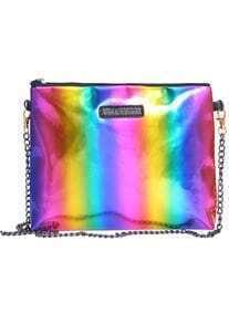 Multicolor Chain Strap PU Bag