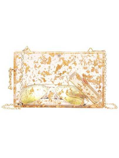 Gold Chain Strap Sheer Bag