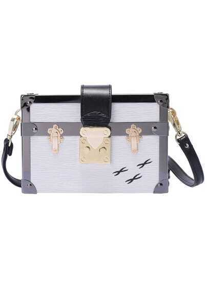 White Metal Trims Shoulder Bag