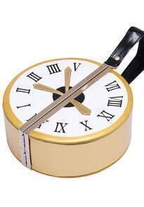 Gold Round Clock Bag