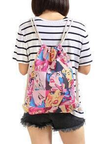 Red Tears Beauty Print Backpacks