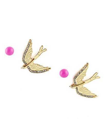 New Style Jewelry Enamel Swallow Stud Earrings