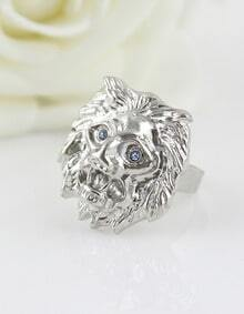 Vintage Individual Style Lion Head Animal Head Ring