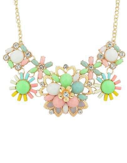 Colorful Gemstone Shourouk Necklace