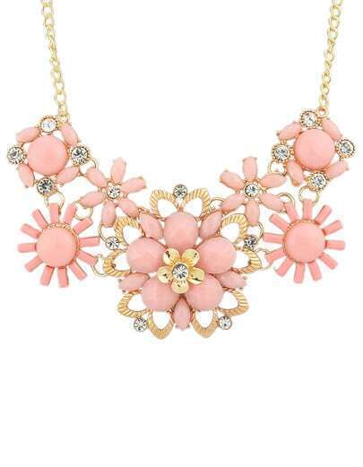 Pink Gemstone Shourouk Necklace