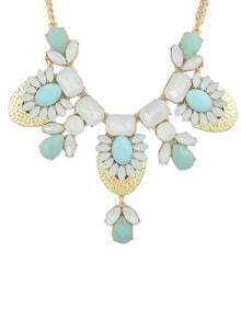 2015 Colored Gemstone Chunky Shourouk Style Fashion Necklace