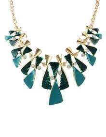 New Model Beautiful Green And Black Enamel Shourouk Necklace