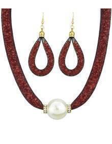Costume Jewelry Net And Fake Pearl Fashion Women Jewelry Set