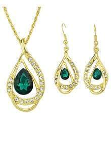 Gold Plated Rhinestone Jwewlry Set