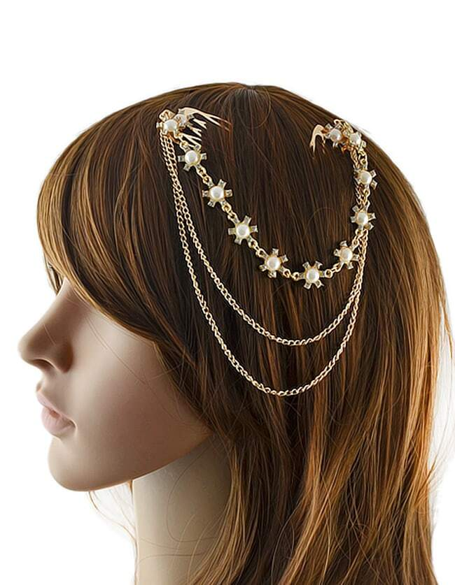 Gold Plated Hair AccessoriesGold Plated Hair Accessories<br><br>color: Gold<br>size: None