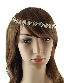Gold Plated Flower Elastic Hair Accessories