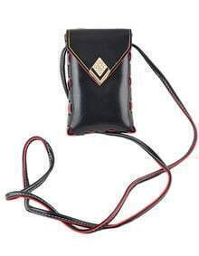 Black Pu Leather Small Card Hand bag