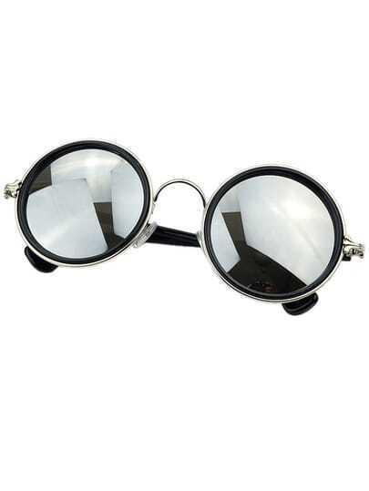 Round Acetate Resin Sunglasses
