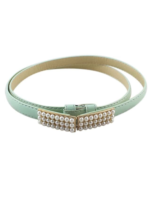 Fashion Style Mixed Color Adjustable Pu Leather Women Belt