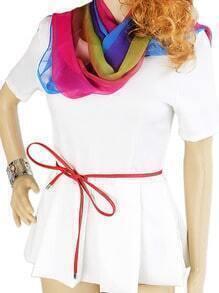 New Model Thin Pu Leather Long Women Fashion Belt