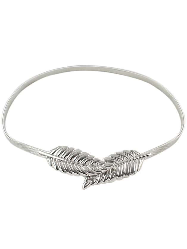 New Model Alloy Gold And Silver Plated Leaf Shaped Fashion Belt