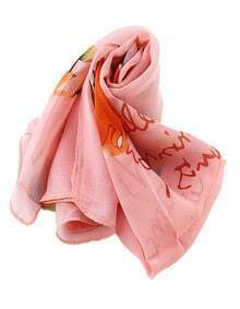 New Accessories Flower Pinted Style Women Fashionable Scarf