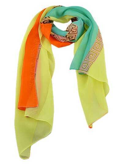 Yellow Pinted Lady Scarf