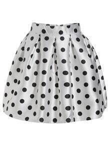 Polka Dot Flare Skirt