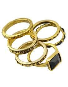 Four Pieces At-gold Ring Set