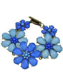 Latest Design Big Gemstone Flowers 2015 Fashion Bracelet