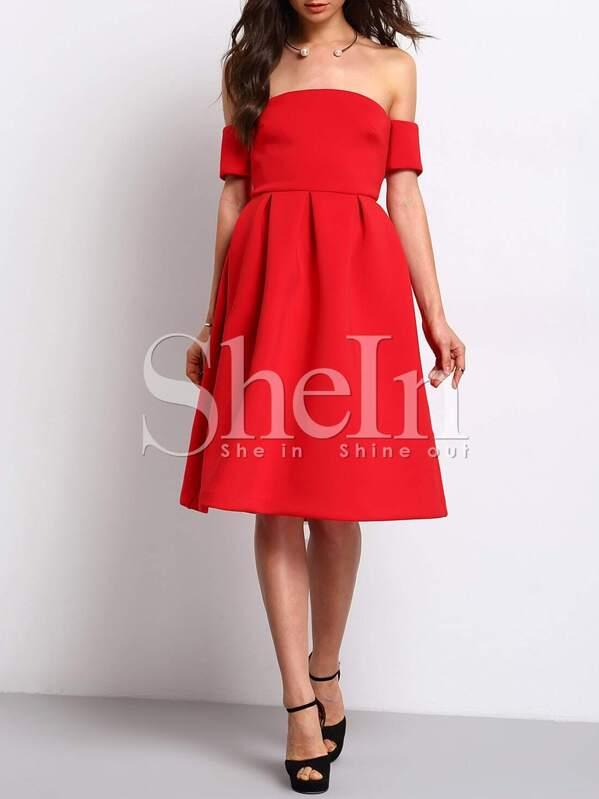 1ba02fa0d1 Cheap Red Short Sleeve Off The Shoulder Dress for sale Australia | SHEIN