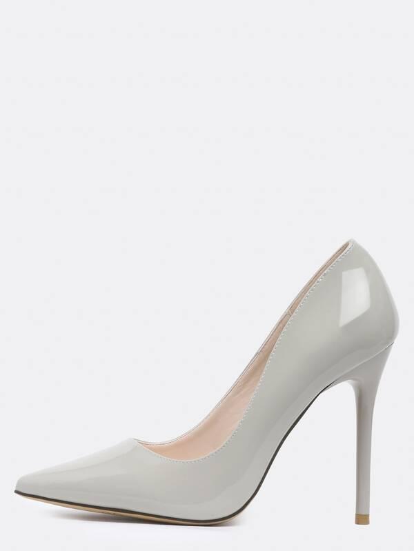 0a58f752c71b Grey Point Toe High Stiletto Heel Pumps -SheIn(Sheinside)