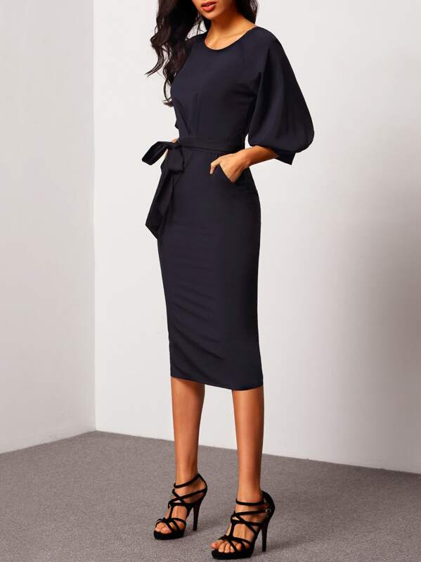 f06a1388d75e4 Cheap Puff Sleeve Dress With Belt for sale Australia