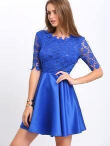 Kleid kurz spitze blau