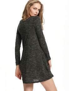 grey scoop neck print tshirt dress sheinsheinside